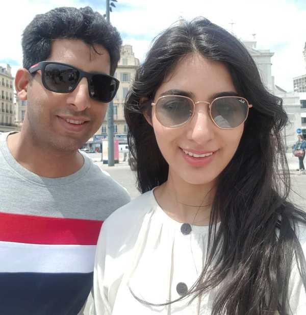 Samridhi Dewan with her brother