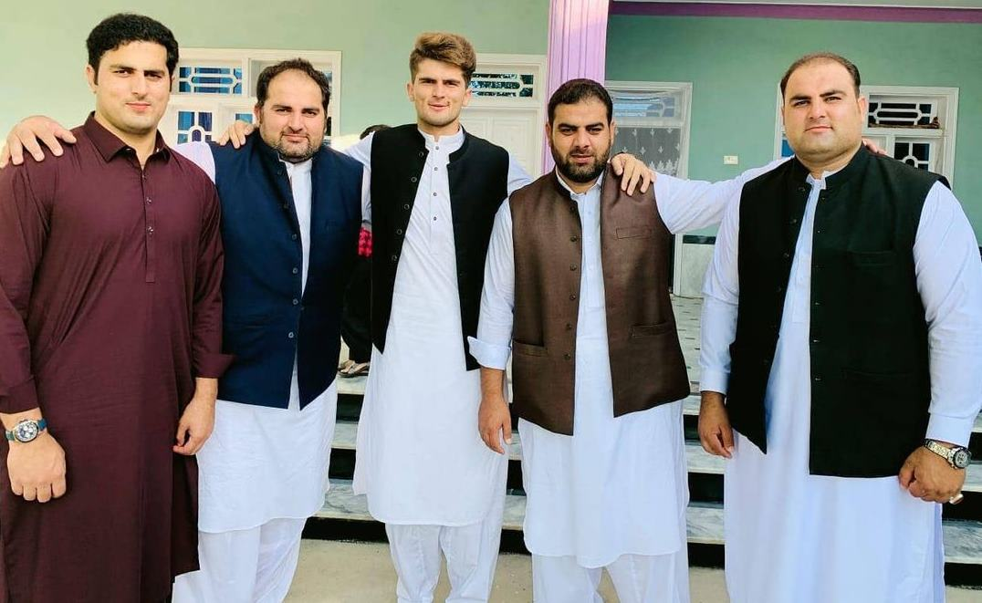 Shaheen Afridi with his brothers