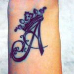 Aarushi's tattoo on her hand.