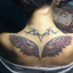 Wings on Aarushi's back