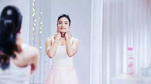 Vaishnavi Gowda in a TV commercial of Ponds'