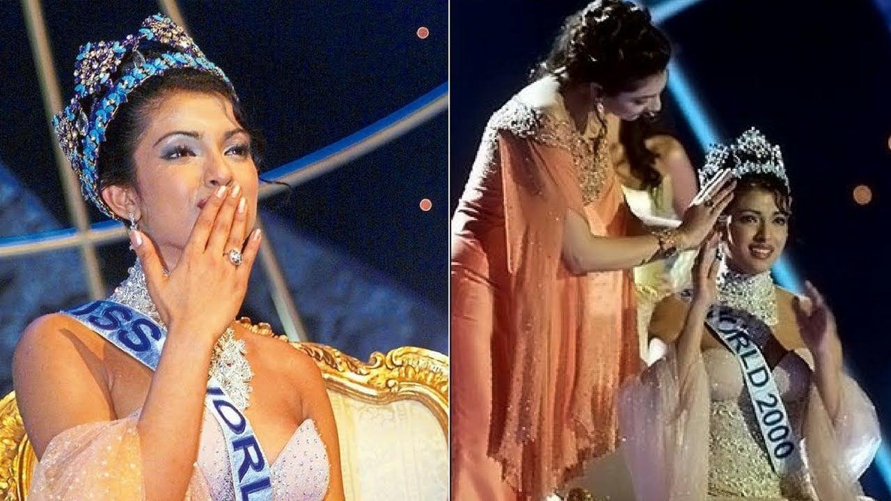 Yukta Mookhey Crowning Priyanka Chopra