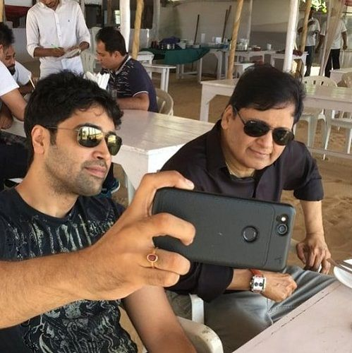Adivi Sesh with his father