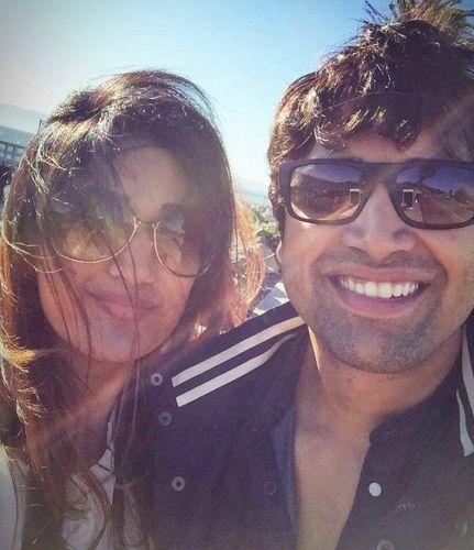 Adivi Sesh with his sister