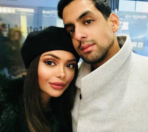 Afshan Azad and her husband
