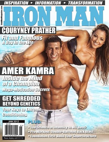 Amer Kamra featured on the cover of Iron Man magazine