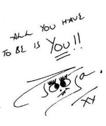 An autograph by Pooja Bhatt