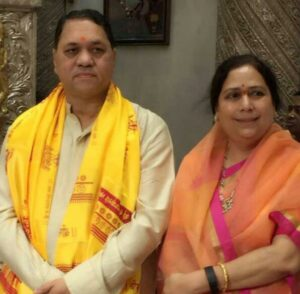 Dilip Walse Patil with his wife, Kiran
