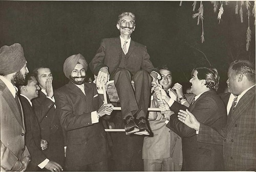 Lt. Gen. Hanut Singh with his batchmates at an officer's party