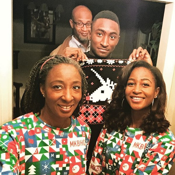 Marques Brownlee with his family