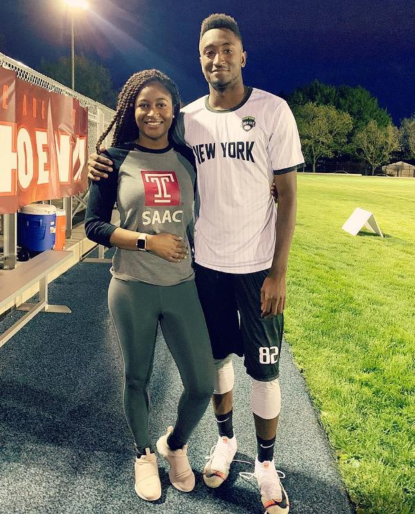 Marques Brownlee with his sister