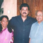 Mukesh Madhavan with his parents