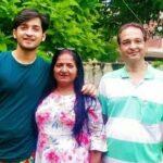 Rajat Verma with his parents