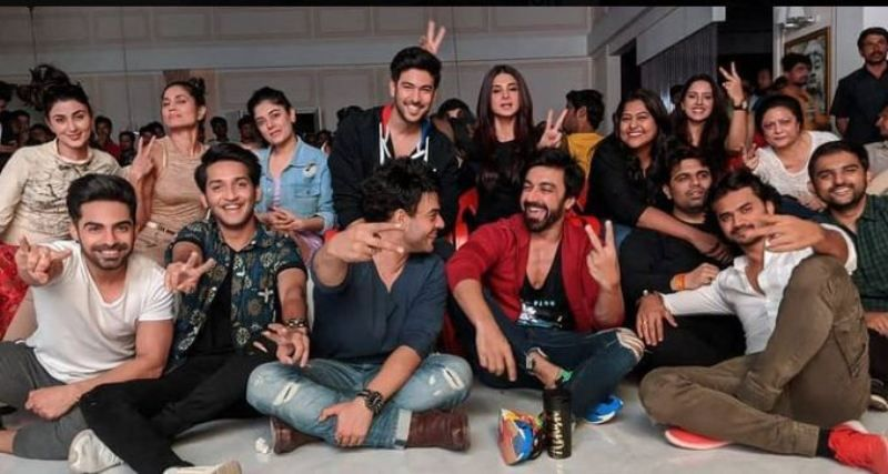 Rajat Verma with the cast of Beyhadh 2