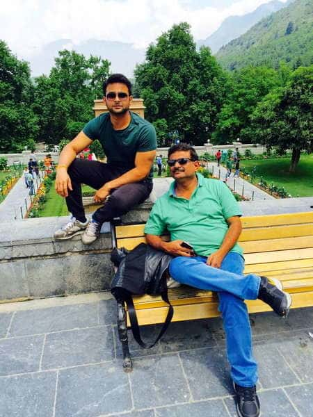 Sanket Bhosale with his father