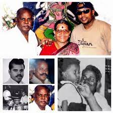 Sivamani with his parents.
