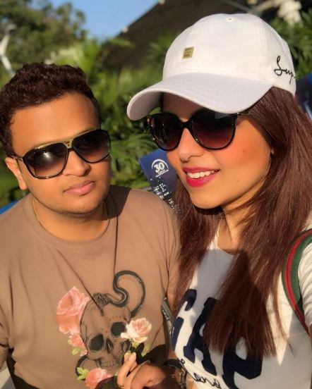 Sugandha Mishra and her brother