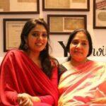 Veena with her mother