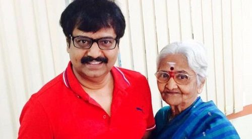 Vivek with his mother
