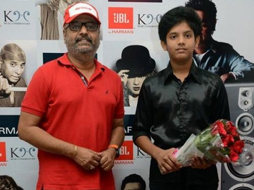Vivek with his son