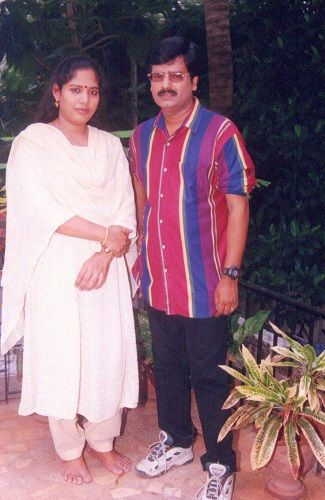 Vivek with his wife