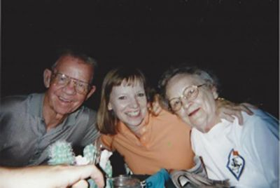 Ann Winblad with her parents