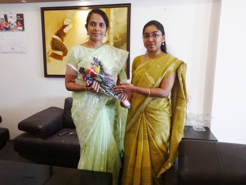 Annies Kanmani Joy (left), a 2012 batch IAS officer, took charge as the new Deputy Commissioner of Kodagu in February 2019