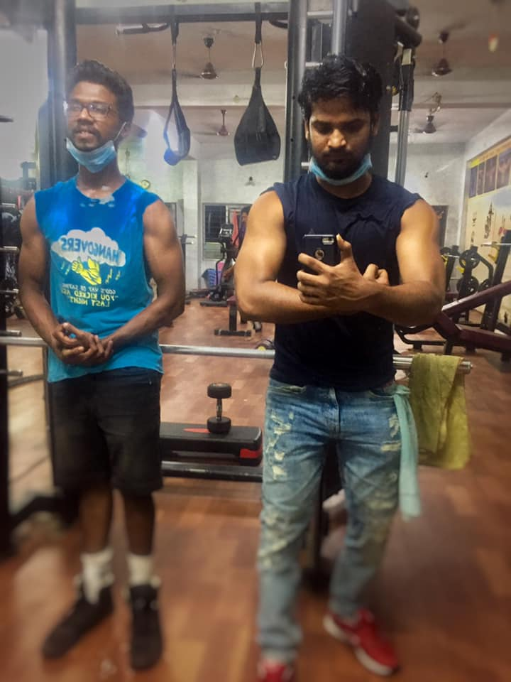 Anvesh Michael in the gym