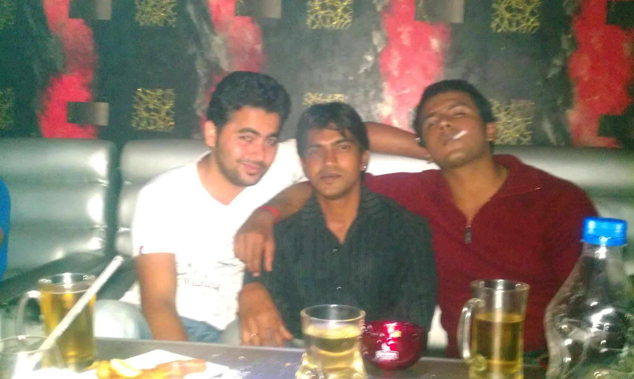 Arjun Gowda drinking alcohol