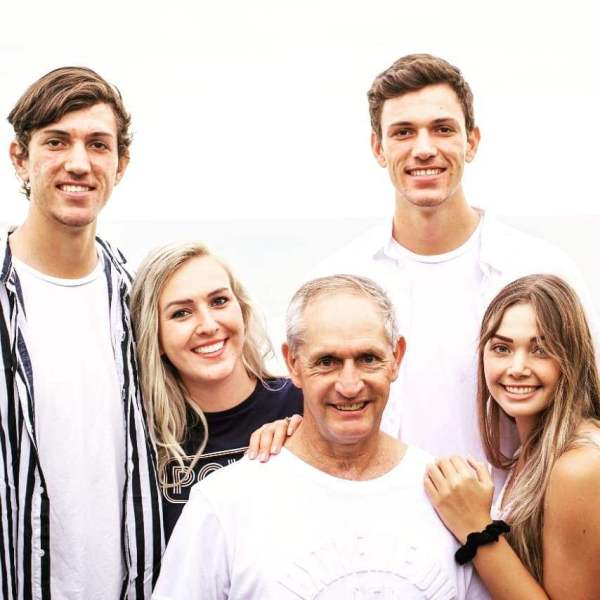 Marco Jansen with his family