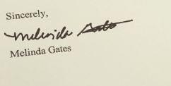 Melinda Gates signature