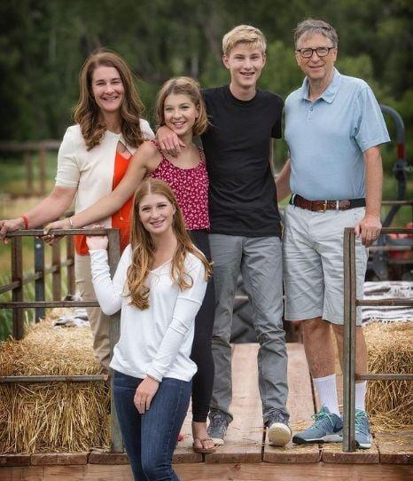 Melinda Gates with her family