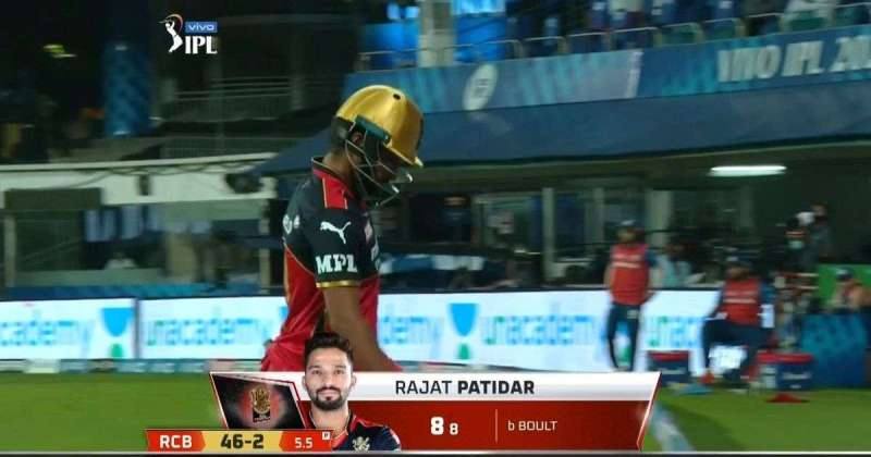 Rajat Patidar for Royal Challengers Bangalore in an openning day clash against Mumbai Indians