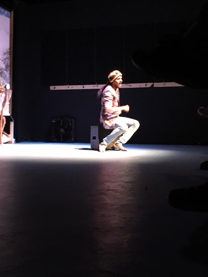 Sameer Malla performing in a theatrical production