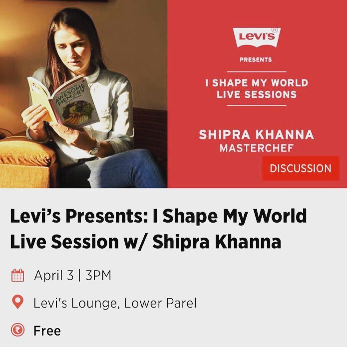 Shipra Khanna on live session with Levi's in 2018