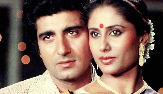 Smita Patil with husband, Raj Babbar