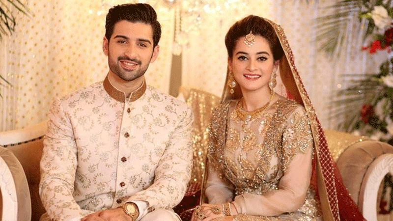 Aiman Khan with her husband