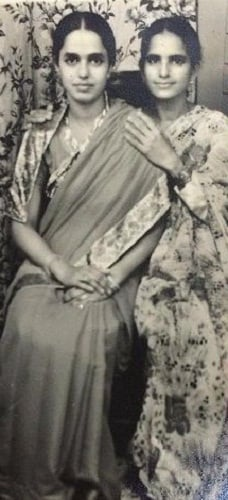 Afshan Anjum's mother and aunt (on right)