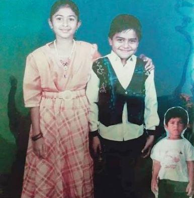 Aisha Sultana with her brothers