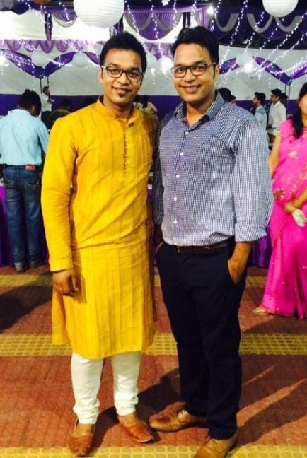Apoorv Singh Karki with his brother