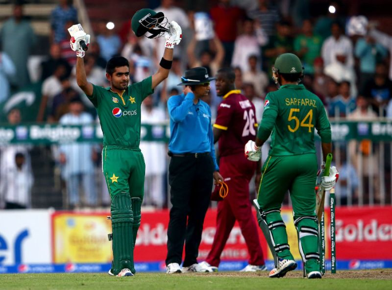 Azam against West Indies at Sharjah