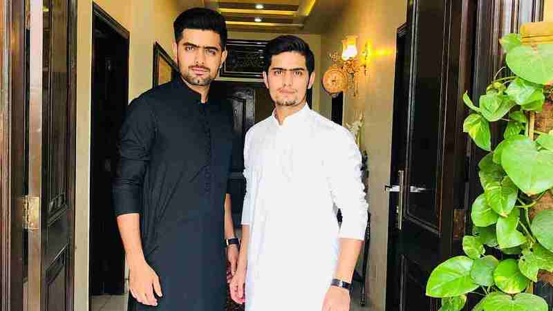 Babar Azam with his brother
