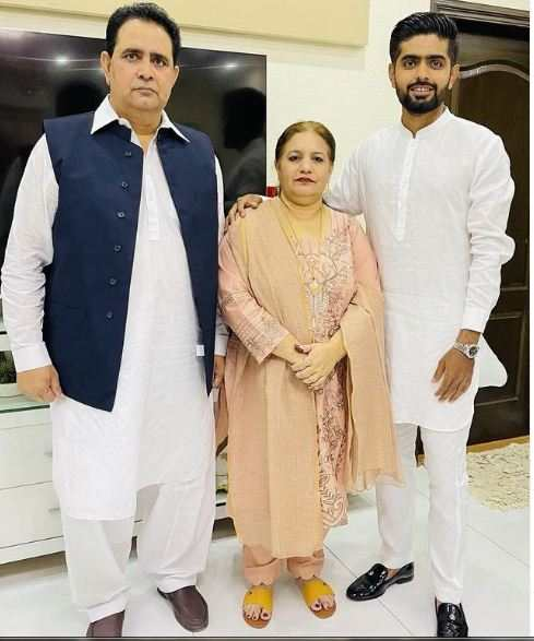 Babar Azam with his parents