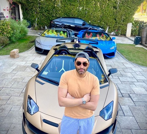 James Khuri with his car collection