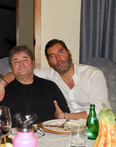 James Khuri with his father