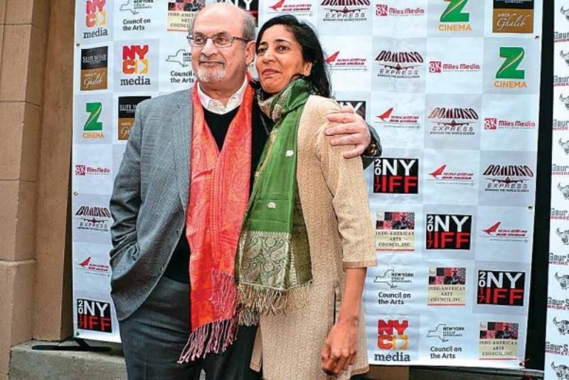 Kiran Desai with Salman Rushdie