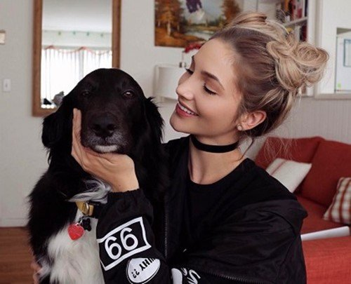 Kristin Taylor with her dog, Cooper