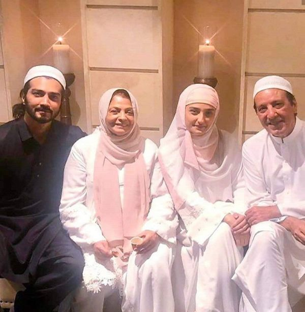 Shahzad Sheikh with his parents and sister