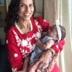 Shobhaa De with her grand-daughter, Ayesha