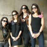 Shobhaa De with her three daughters, Anandita, Avantika, and Arundhati